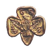 GIRL SCOUT PIN SMALLER 1957 MACY PARTICIPATION PIN